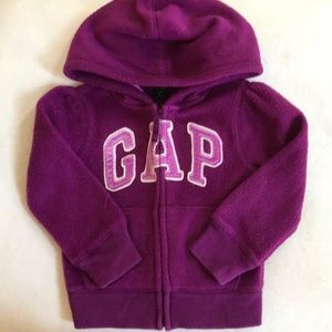 Berry colored baby gap zip up hoodie